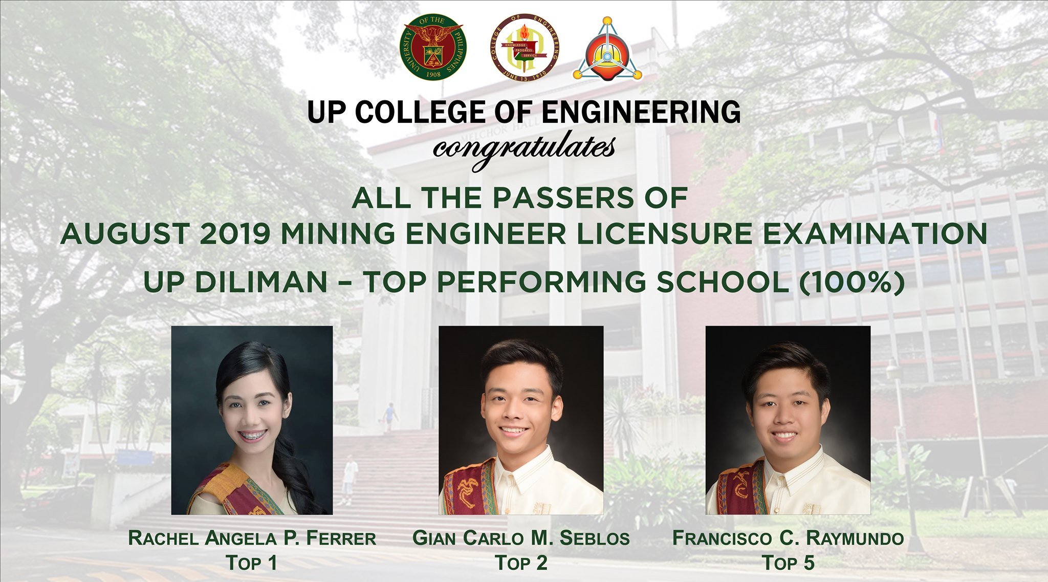 UP CoE Tops Mining Engineering Board Exams