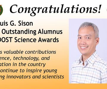 Dr. Luis G. Sison Most Outstanding Alumnus BPI DOST Science Awards