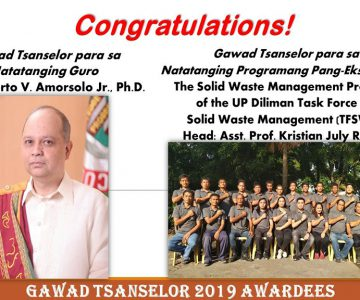 Gawad Tsanselor Awardees 2019