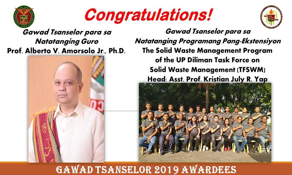 Gawad Tsanselor Awardees 2019