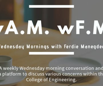 "UP CoE launches Wednesday Mornings with Ferdie Manegdeg – ""wA.M. wF.M."""