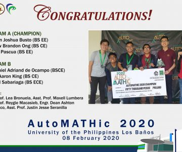 UPD Civil Engineering Students are Champion in AutoMATHic 2020 Competition