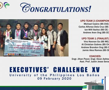 UPD Civil Engineering Students  win in the Executives' Challenge XV