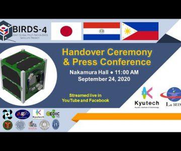 BIRDS-4 Satellite Project Handover Ceremony