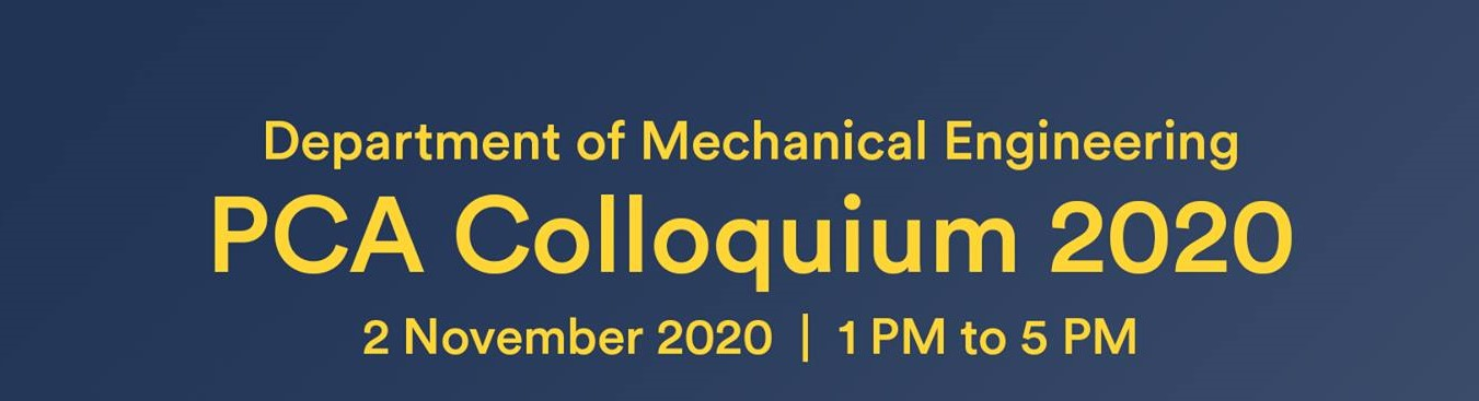 UP Department of Mechanical Engineering PCA (Professorial Chair Awards) Colloquium