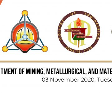 UP Department of Mining, Metallurgical and Materials Engineering PCA (Professorial Chair Awards) Colloquium