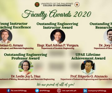 UP CoE Faculty Awards 2020 Awardees