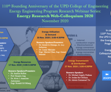 Energy Engineering Program Research Webinar Series
