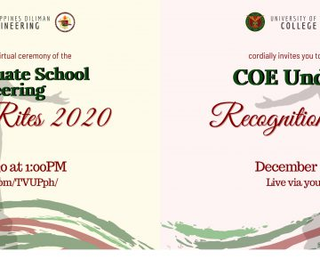 CoE Recognition Rites for NGSE and Undergraduates on Dec 5 & 6