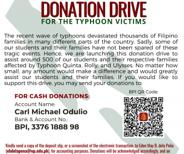Donation Drive for Typhoon Victims