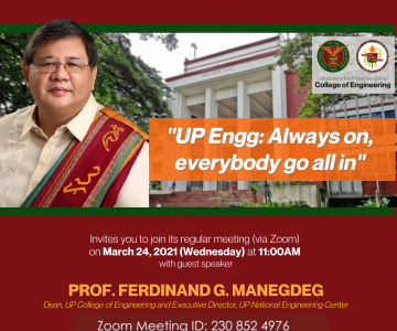 Rotary Club of Pasay will have CoE Dean as guest speaker