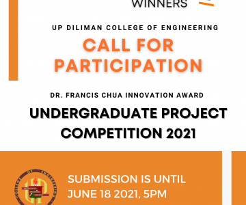 Undergraduate Project Competition 2021 – Call for participants