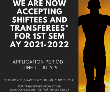 Applications for Shiftees and Transferees for 1st Sem AY 2021-2022