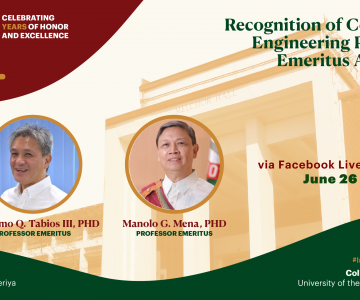 Recognition of the College of Engineering Professor Emeritus Awardees