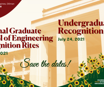 UP COE Undergraduate and NGSE Recognition Rites Announced