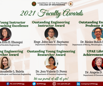 2021 UP College of Engineering Faculty Awards